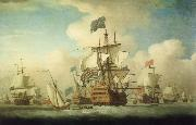 Monamy, Peter A fleet coming to anchor oil painting picture wholesale